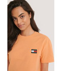 tommy jeans tommy jeans badge tee - orange