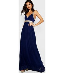 boutique sequin panel maxi bridesmaid dress, navy