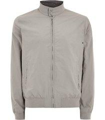mens grey gray nylon harrington jacket