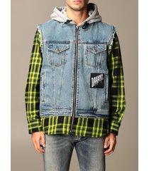 diesel suit vest diesel denim jacket with fake shirt sleeves