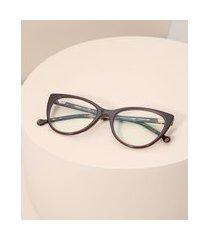 armação de óculos gatinho feminino yessica marrom
