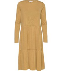 dany ls dress knälång klänning gul soft rebels