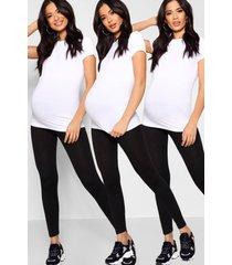 maternity 3 pack over the bump legging, black