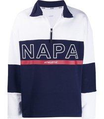 napapijri logo pullover fleece - white