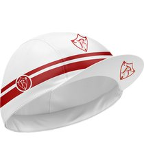 gorra perfomance blanco rojo