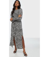 river island desert shirred smock midi dress loose fit