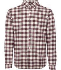 farah red coleville flannel shirt f4wf7027-626