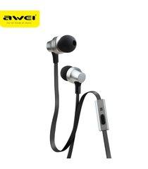 audífonos bluetooth manos libres inalámbricos, auriculares estéreo awei 910i auriculares con micrófono cancelación de ruido (plata)