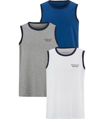 mouwloos shirt babista royal blue::wit::grijs