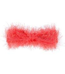 wauw capow by bangbang molly furry headband - orange