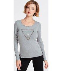 sweter z trójkątnym logo