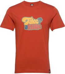 hike tee t-shirts short-sleeved röd bula