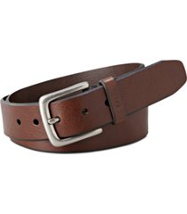 fossil joe casual leather belt