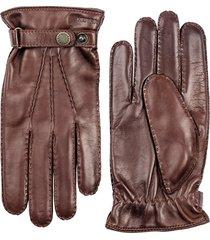 men's hestra 'jake' leather gloves, size medium - brown