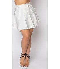 akira plus size harbor pleated mini skirt