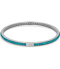 women's lagos caviar icon beaded bangle bracelet