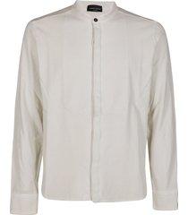 roberto collina white cotton blend shirt