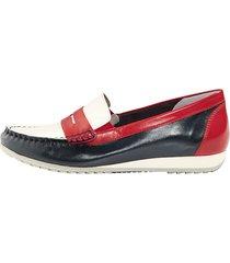 loafers mona vit::blå