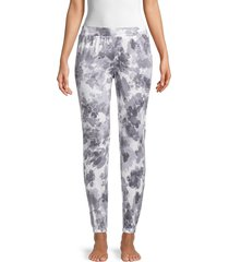 donna karan sleepwear women's stretch jogger pants - grey - size s