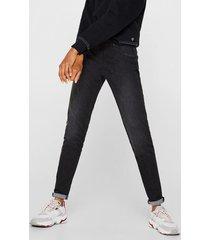 jeans skinny medium rise negro esprit