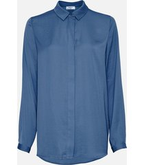 moss copenhagen blair seasonal polysilk shirt blauw
