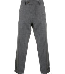 société anonyme cropped woven trousers - grey
