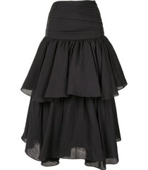 acler suki draped skirt - black