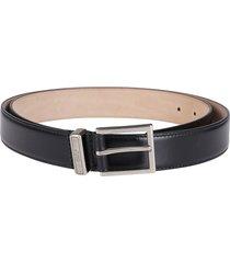 black leather identity belt