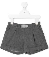 moncler kids bow detail shorts - grey