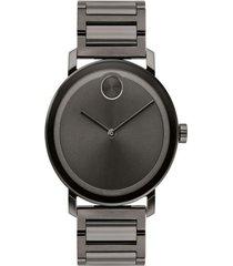 reloj  movado 3600509 gris acero inoxidable