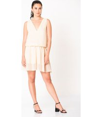 vestido corto escote v
