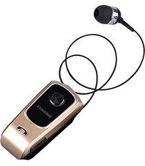 audifonos bluetooth, f920 auriculares inalámbricos conductor audifonos bluetooth manos libres  headset llamadas recordar vibración desgaste clip deportes corriendo auricular para teléfono (oro)