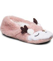 christmas deer ballerina slippers tofflor rosa hunkemöller