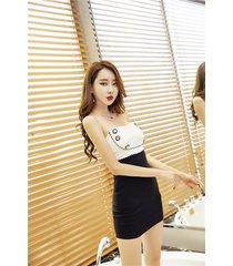 pf265 sexy youth dress, open shoulder dress w button, size s-l, white/black