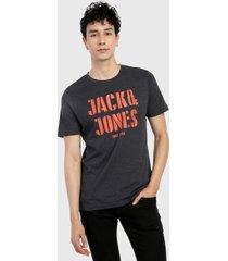 camiseta azul oscuro-naranja jack & jones
