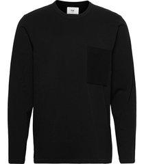 ls stack tee t-shirts long-sleeved svart folk
