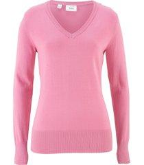 maglione con scollo a v (rosa) - bpc bonprix collection