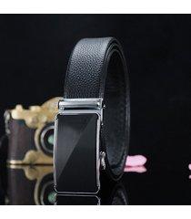 cinturón de hombres, cinturón de vestir de cuero de-negro