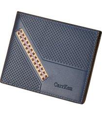 cartera para hombre- cartera monedero billetera-azul
