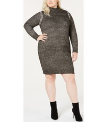 one a plus size whipstitched sweater dress