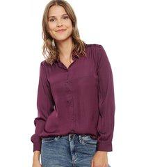 blusa jacqueline de yong penelope morado - calce holgado