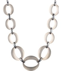 alexis bittar women's ruthernium-plated & lucite link statement necklace