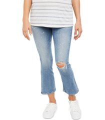 citizens of humanity maternity flared cropped jeans