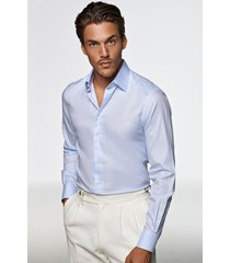 suitsupply classic fit dress shirt, size 15r in light blue at nordstrom