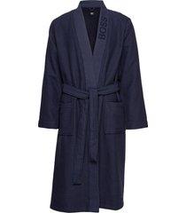 waffle kimono morgonrock badrock blå boss