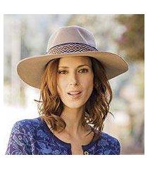 alpaca and wool blend felt hat, 'munay in taupe' (peru)