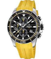 reloj amarillo festina