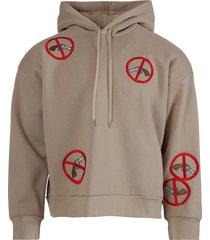 gun print hoodie