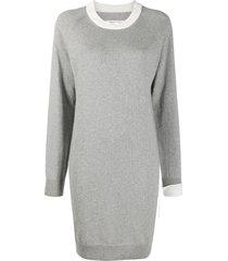 maison margiela knitted jumper dress - grey
