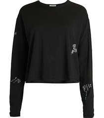 tattoo embroidered sweatshirt